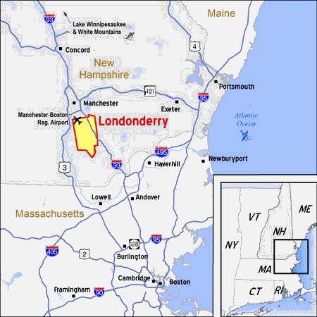 Map of Londonderry