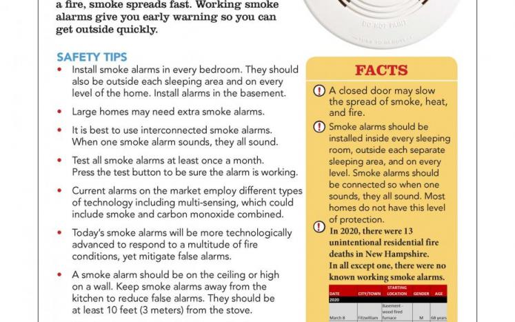 Fire Safety Tips: Please see these important reminders about Smoke Alarms!